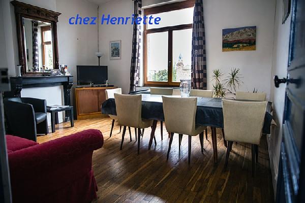 La salle de séjour de Chez Henriette au rez de chaussée